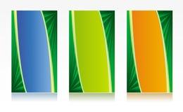 Visitenkarteschablonen in den verschiedenen Farben Stockfotografie