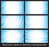 Visitenkarteschablonen oder Fahnenhintergründe Stockfoto
