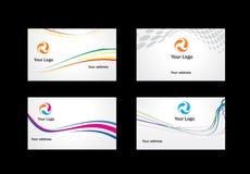 Visitenkarteschablonen, zum von zu wählen Lizenzfreies Stockbild
