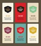 Visitenkarteweinleseartvektor-Designschablone Stockfotos