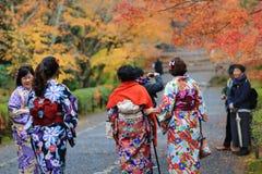 visiter在寺庙的Nison在京都 库存图片
