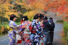 visiter在寺庙的Nison在京都 免版税库存图片