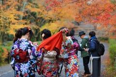 visiter在寺庙的Nison在京都 库存照片