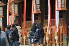 visiter al santuario Kyoto di Kitano Tenman Gu Immagini Stock