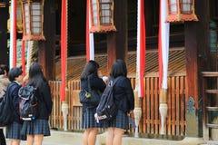 visiter al santuario Kyoto di Kitano Tenman Gu Fotografia Stock