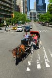 Visites hippomobiles de chariot, New York City Image libre de droits