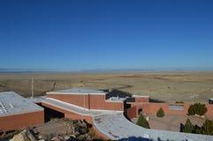 Visiteurs Arizona central de cratère de météore Photos libres de droits