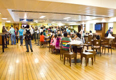 Visiteurs au café de l'espoir de logos. Photographie stock