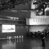 Visiteurs au musée national de la deuxième guerre mondiale Images libres de droits