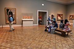 Visiteurs de musée de Chicago Image stock