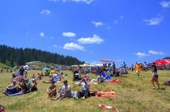 Visiteurs-Rozhen justes nationaux bulgares Photos stock