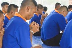Visitez la jeunesse et faites les activités ensemble dans le département des corrections Ju Photos stock