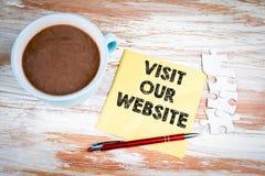 Visitez notre site Web Texte sur une serviette images libres de droits