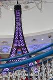 Visiti Eiffel dentro le sfere di cristallo delle bolle sospese in aria Fotografia Stock Libera da Diritti
