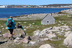 Visiting «�le aux marins», Saint Pierre and Miquelon Islands. Royalty Free Stock Images