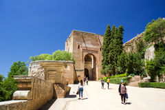 Visiting Alhambra castle Stock Photography