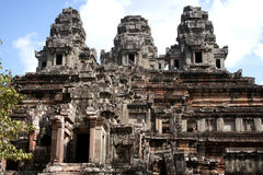 Visiting Angkor site Royalty Free Stock Image