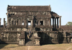 Visiting Angkor temples Stock Images