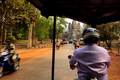 Visiting Angkor Wat Stock Photography