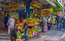 Visiting of Arab Bazaar Stock Images