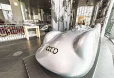 Visiting Audi museum. At the exposition of Audi museum. Ingolstadt, Germany Royalty Free Stock Images