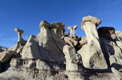 New Mexico Badlands. When visiting the badlands of New Mexico, you will often feel like you are visiting an alien planet royalty free stock photos