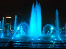 Blue Fountain stock photography