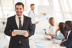 Visiting business presentation Stock Photo