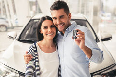 Visiting car dealership Royalty Free Stock Photos