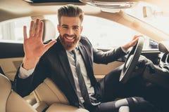 Visiting car dealership Stock Photography