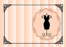 Visiting card a the atelier apparel. The illustration shows the visiting card for women's clothing atelier. Illustration done on separate layers Stock Photos
