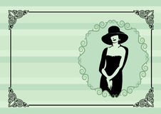Visiting card at the atelier fashion Royalty Free Stock Photos