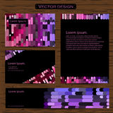 Visiting card and business cards set with geometric mosaic design element logo. Abstract oriental Layout. Vector Stock Image