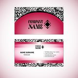 Visiting card, business card template set royalty free stock images