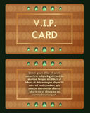 Visiting card with emerald vector . Luxury cutaway with diamond. Stock Photography