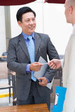 Visiting card exchange Royalty Free Stock Photo