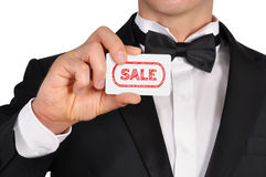 Visiting card with sale Stock Image