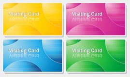Visiting card - simple color design stock photo