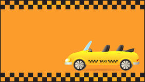 Visiting card with taxi car cabriolet Stock Photos