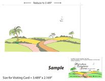 Visiting Card Template - 2 Stock Images