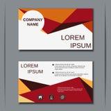 Visiting card vector design template Stock Photos
