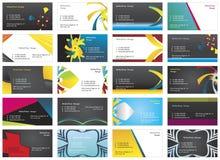 Visiting cards 11. Twenty fresh designs for card, 100% vectors Stock Image