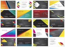Visiting cards 12. Twenty fresh designs for card, 100% vectors Stock Photo