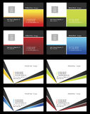 Visiting cards - 15. Fresh designs for card, 100% vectors Royalty Free Stock Image
