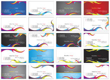 Visiting cards 2. Twenty fresh designs for card, 100% vectors Royalty Free Stock Photo
