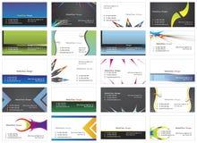 Visiting cards 8. Twenty fresh designs for card, 100% vectors Stock Photos
