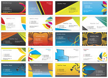 Visiting cards 9 Royalty Free Stock Photos