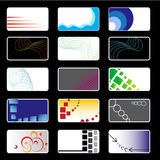 Visiting Cards Set. Set of various 15 business cards Stock Image