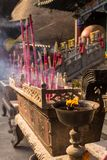 Visiting Chinese Buddhist tample Stock Photos
