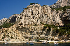 Visiting the Cliffs of the Mediterranean Stock Images